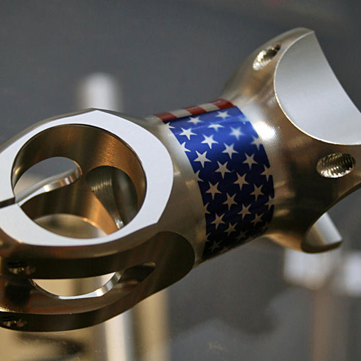 Thomson Permadised stem with US flag
