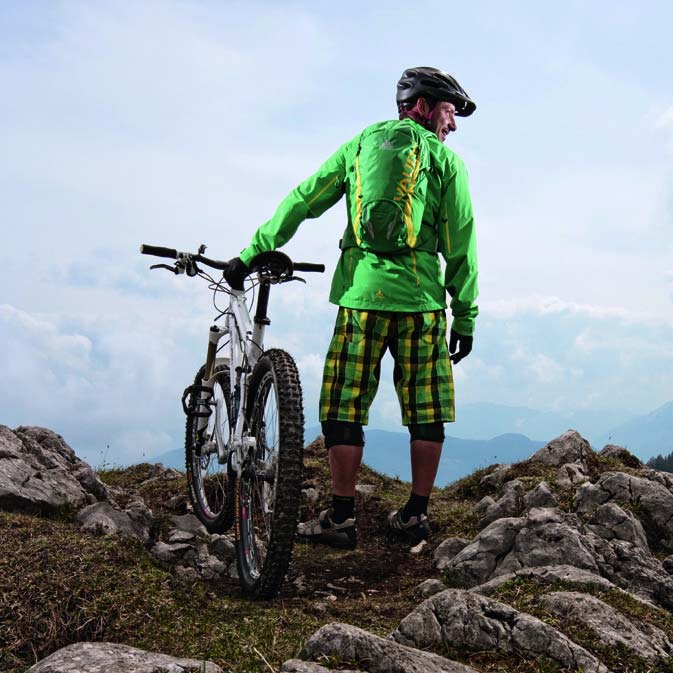 Funky Vaude plaid shorts