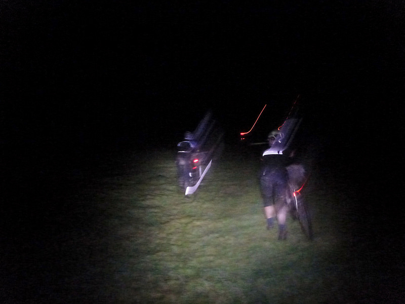 Pushing through the night during the Bearbones 200