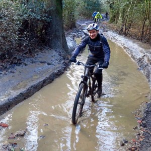 Dave splashes along the Drovers Road