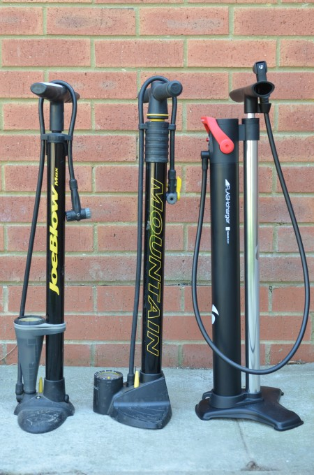 A collection of track pumps