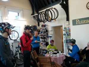Cake at Pilgrim Cycles