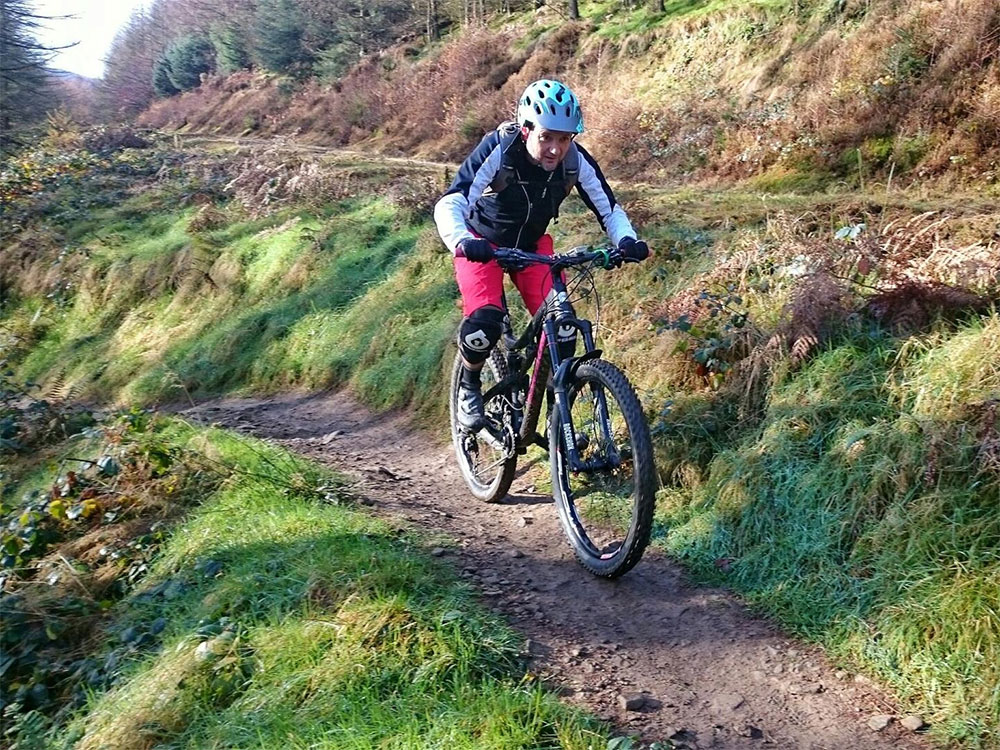 Jem on the Cafall Trail at Cwmcarn