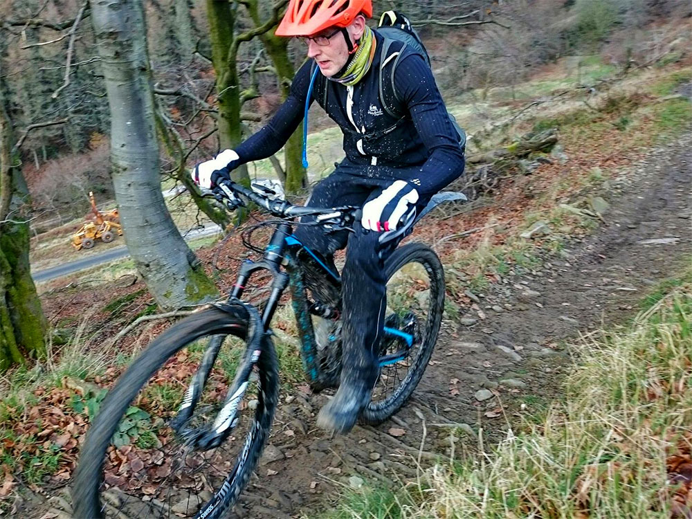 Matt climbing the Twrch at Cwmcarn
