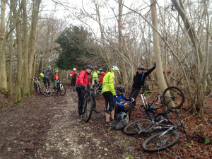 Puncture on the North Downs flint