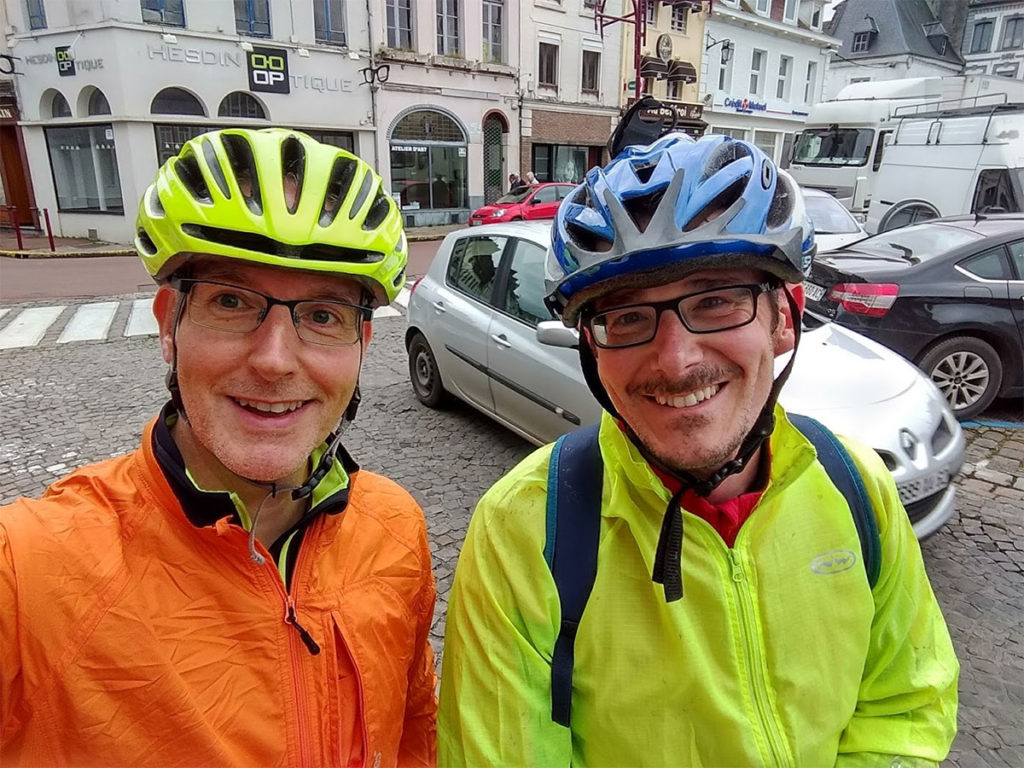 Matt and Mark in Hesdin, France