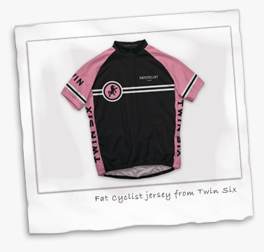 Pink Fat Cyclist jersey from twin Six