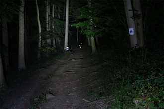 Dealextreme HA-III P7 LED MTB light High beam shot