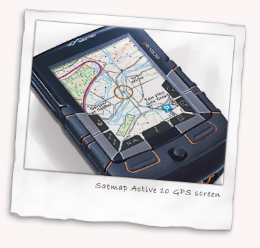 Satmap Active 10 GPS screen