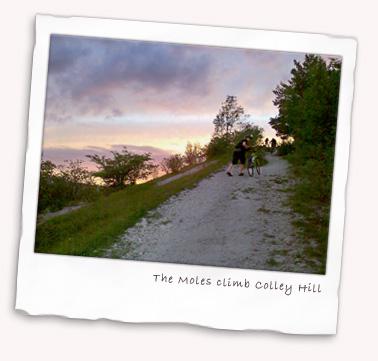 The Moles climb Colley Hill near Reigate