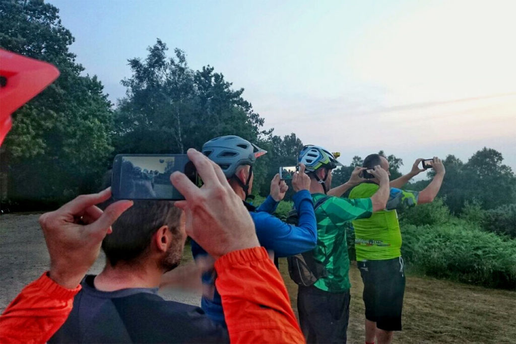 Group action capturing the summer solstice at Holmbury Hill, 2017