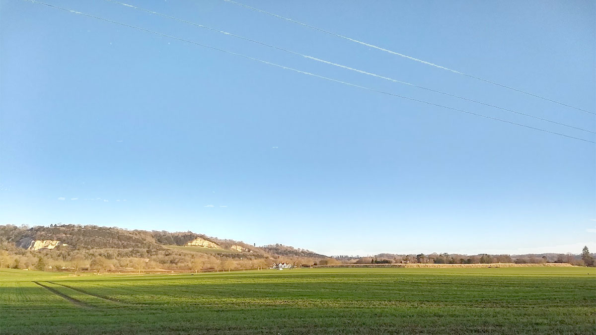 South of Box Hill in January, near Brockham
