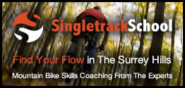 Advert for Singletrack School - Mountain bike skills courses, skills workshops, skills weekends and guided adventures throughout the UK